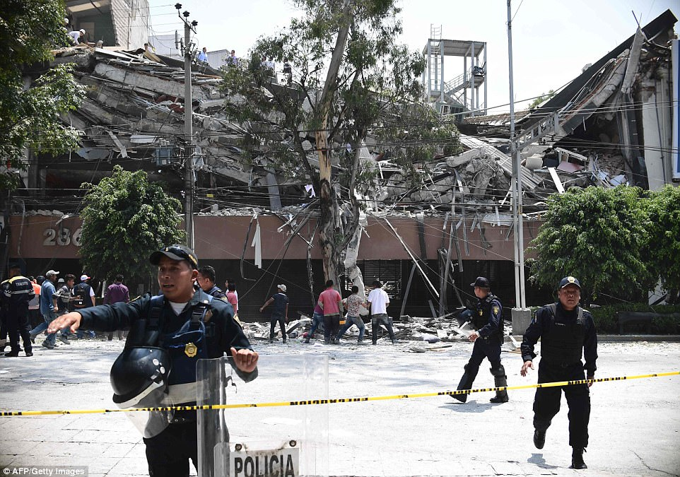 The tremor hit just hours after emergency drills around the nation on the anniversary of a devastating quake that killed thousands in Mexico City in 1985