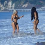 Kim Kardashian Dons Ridiculous Bikini In Malibu