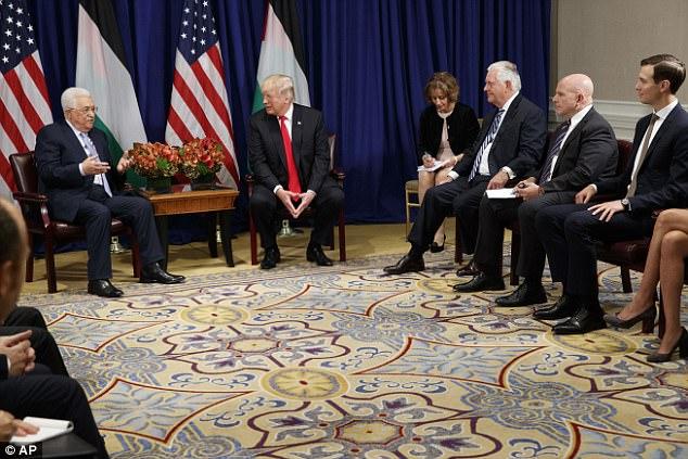 El presidente palestino Mahmoud Abbas dijo el miércoles que las repetidas reuniones de Trump con él son la prueba de que está comprometido a facilitar un acuerdo