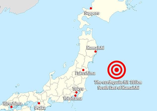 A 6.1 magnitude earthquake struck overnight off the coast of Japan