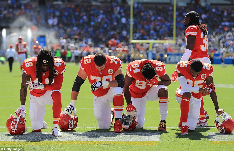 Scores Of NFL Stars Kneel In Defiance Of Trump Daily