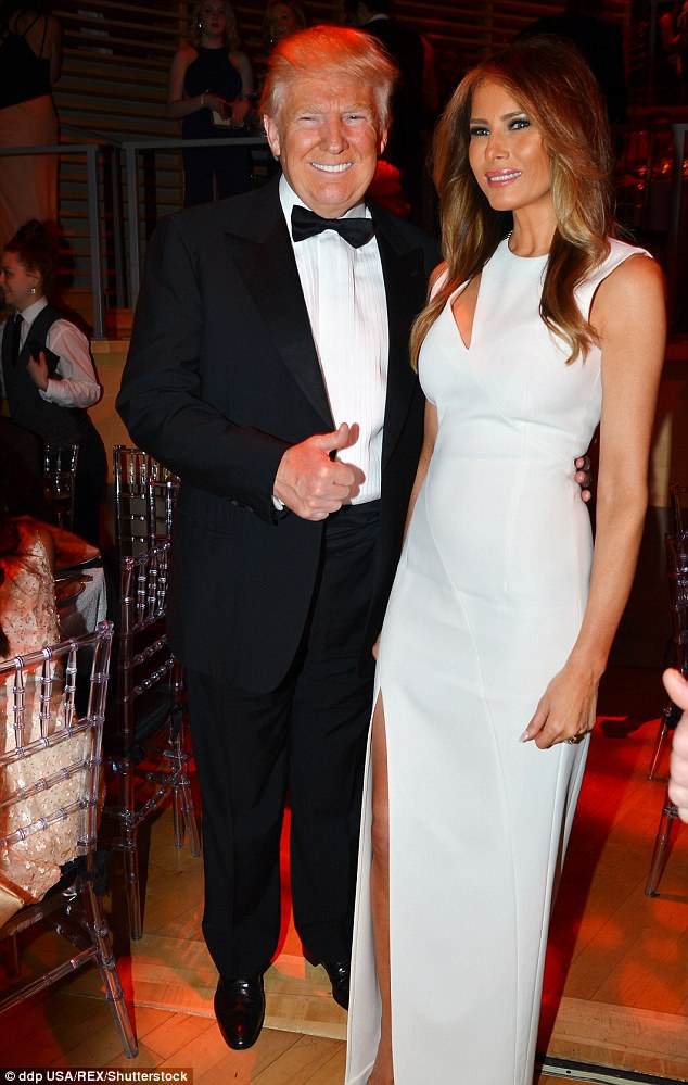 Trump also revealed that Princess Diana was third on his top ten hottest women list, after ex-wife Ivana in second and now-First Lady Melania (pictured with him last year) in first