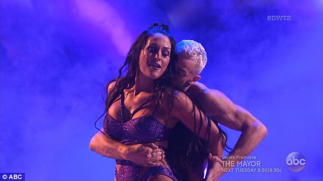 Sexy moves: The WWE star was bashful about showing her sexy side on the dance floor