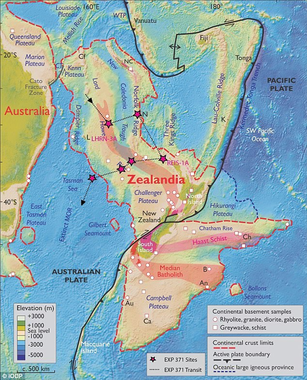 The lost, underwater continent of Zealandia may have been used by animals and plants to cross continents 80 million years ago. Zealandia, a mostly-submerged landmass near New Zealand (centre) and Australia (left), was declared Earth's newest continent earlier this year