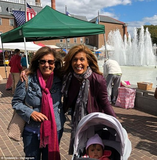 No place like home! Hoda Kotb visited Alexandria, Virginia this weekend with her daughter Haley Joy and spent time with Hoda's mom (left)