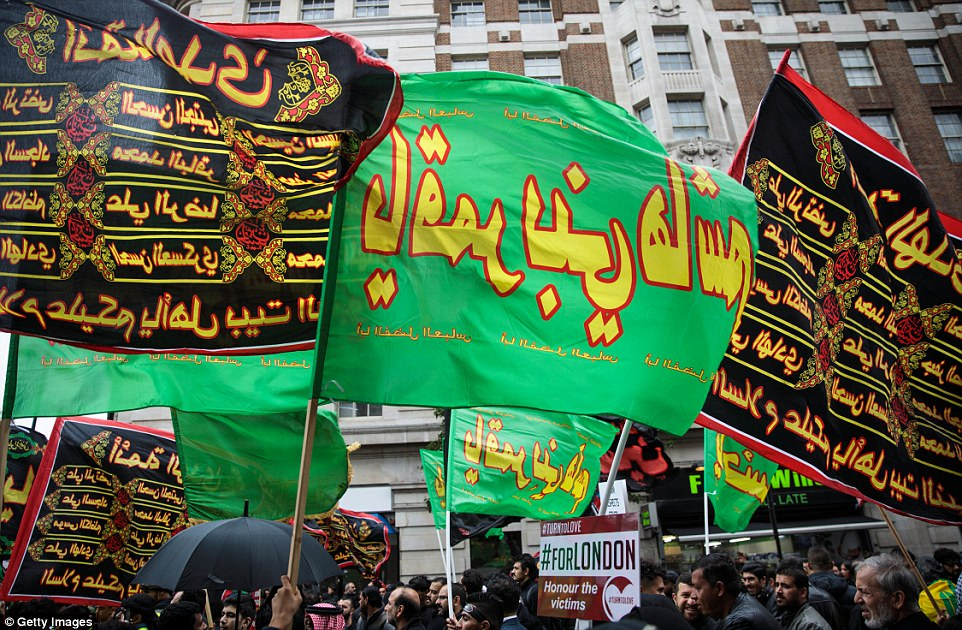 Victims of terror were remembered with a demonstration against extremism carried out by Muslims marking the festival of Ashura