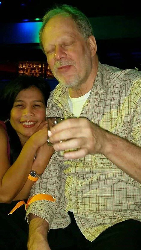 PICTURED: Stephen Craig Paddock, right, is the man who killed more than 58 and injured 515 in a shooting at a Las Vegas music festival Sunday night. He's pictured above with Marilou Danley, who he lives with