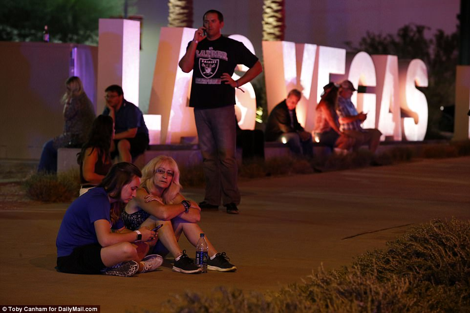 Bystanders on the Las Vegas Strip come to terms with what they've seen after the brutal shooting