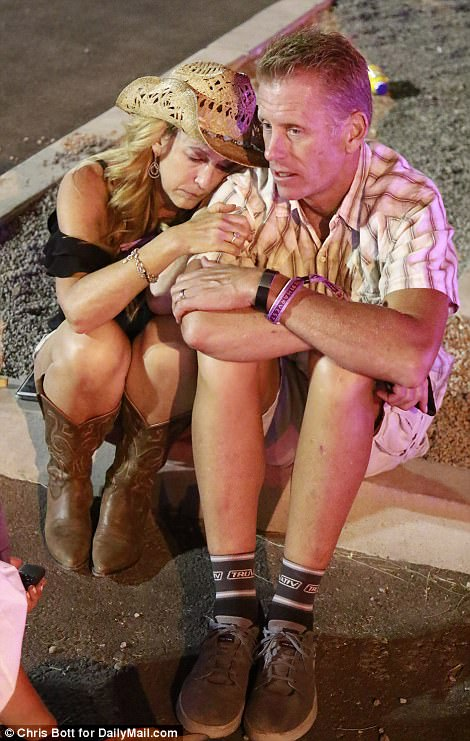 Derek and Karen Bernard, 53 and 51, from LA where witnesses to the shooting at the Mandalay bay hotel Sunday night
