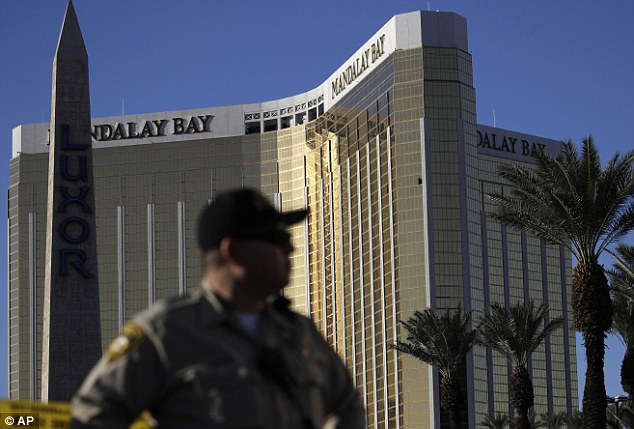 On Sunday Paddock used a vantage point from the 32nd floor of the Mandalay Bay hotel to slaughter 58 people and wound more than 500 using high-powered rifles