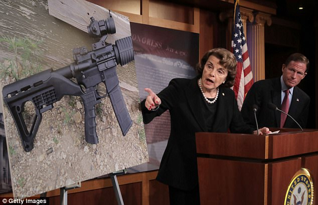 Sen. Dianne Feinstein, D-Calif., introduced legislation alongside her Democratic colleagues on Wednesday to ban the sale and possession of bump stocks, of which the Las Vegas killer had 12 such devices, she said