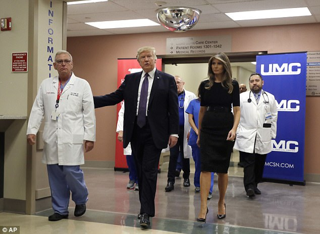 Trump and surgeon Dr. John Fildes briefed the press, and the president said the hospital's medical staff 'have done a job that's indescribable'