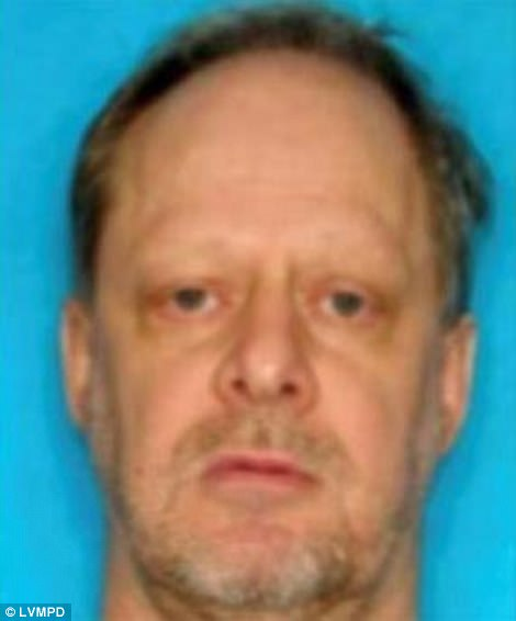 Stephen Paddock (pictured), 64, killed and maimed hundreds at a music festival; Lombardo said Paddock had plans to escape