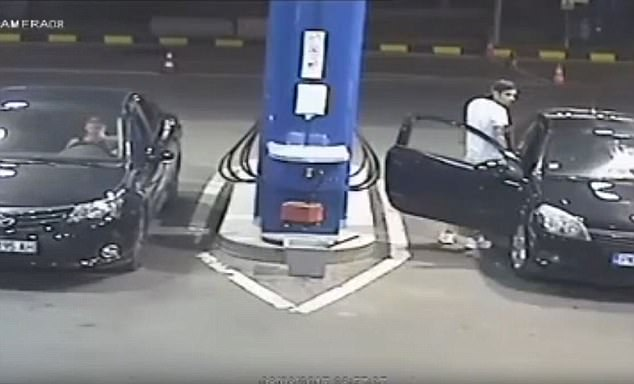 Man smoking a cigarette at gas station receives valuable lesson by the attendant
