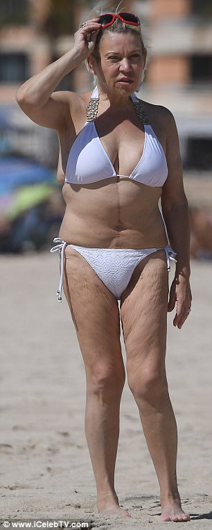 Tina Malone Flaunts Her Slimmed Down Physique In Spain