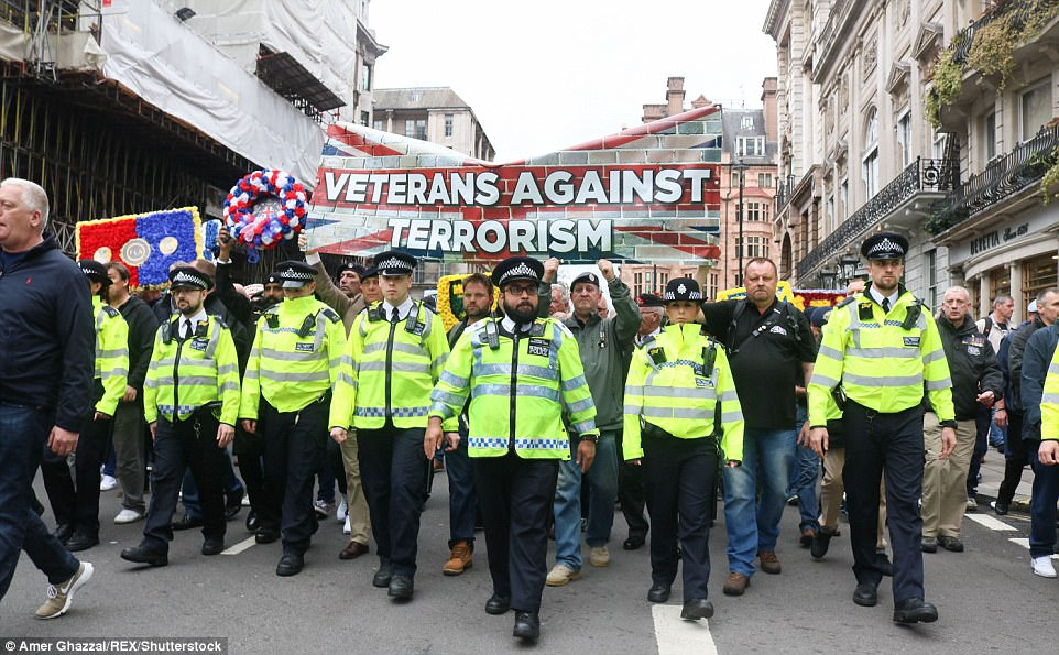 Marchers flanked by police descended on the capital as part of a demonstration that attracted supporters of clubs from all over the country