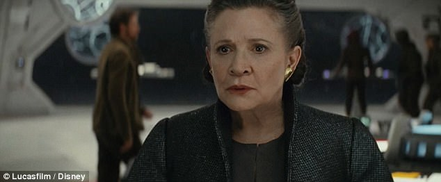 Image result for carrie fisher last jedi