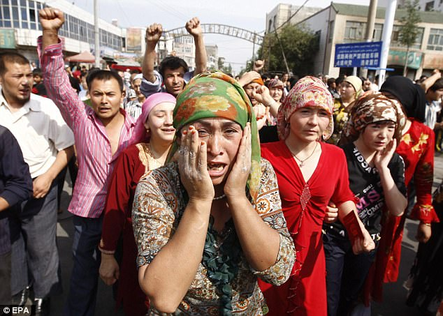 Discrimination: Chinese Uyghur Muslim's protest  as they face discrimination from Beijing