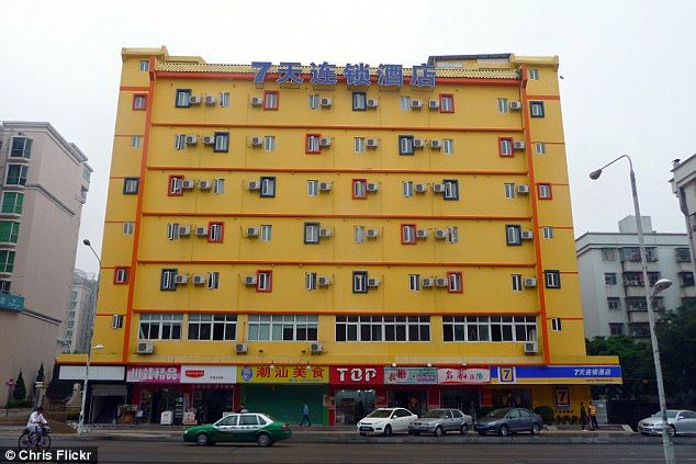Uyghurs banned: 7 Days Inn is a Chinese chain with hotels across the country (file photo)