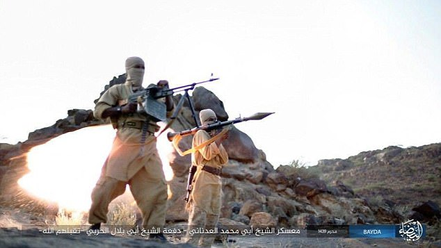 Terrorists in training: ISIS began to establish itself in Yemen in 2014, using the chaos of a civil war to convince young men and women to join them