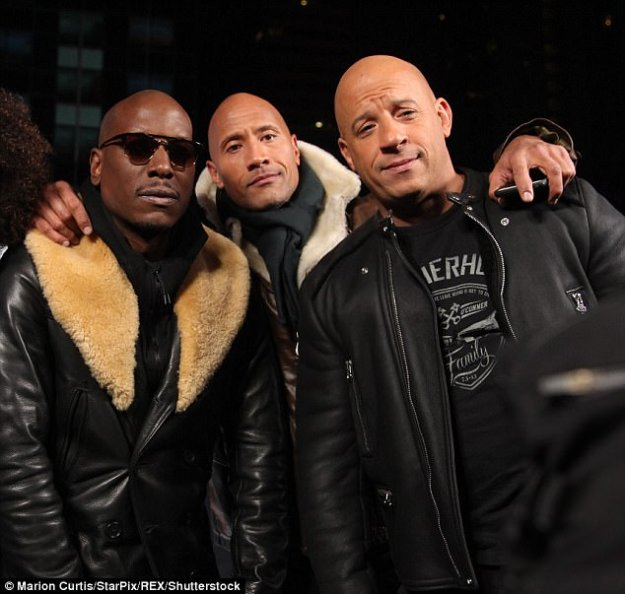 Happier times:'I know there has been a lot of speculation as to why the Fast 9 release date was pushed... but it would be unfair to say it is anyone's fault' said Vin Diesel, pictured here in 2016