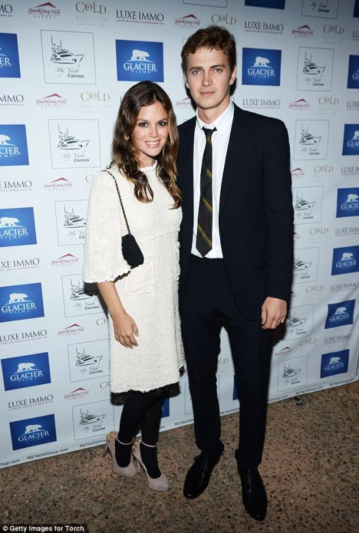 Split: Hayden and Rachel parted ways in September after nearly 10 years of dating; seen at the Glacier Films launch party in 2013