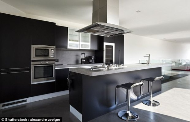 Black kitchens: The colour makes a statement but parents were not fond of the dramatic look