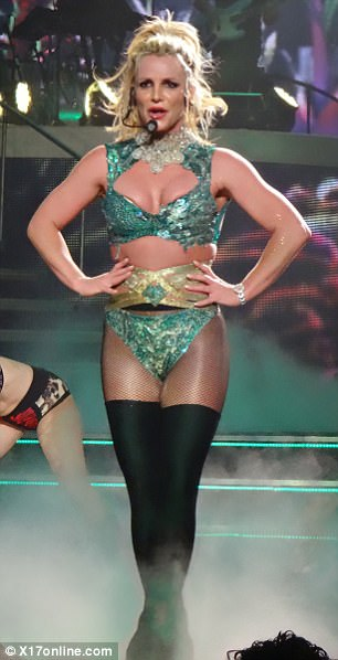 Skimpy wardrobe: The 35-year-old Toxic hitmaker showed off a variety of dazzling costumes