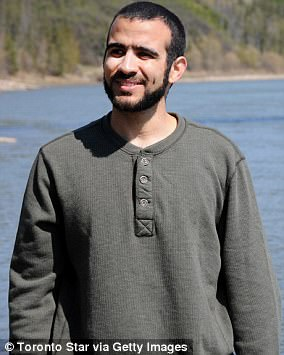 Omar spent eight years in Guantanamo before being released to Canadian authorities in 2010. He was released on bail in 2015 and is pictured above that year