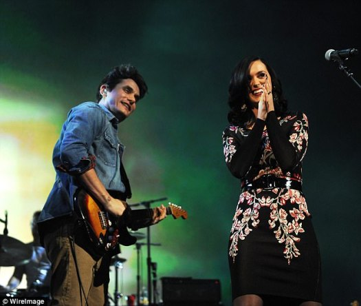 Lots of love: The exes took the stage together in NYC in December of 2013