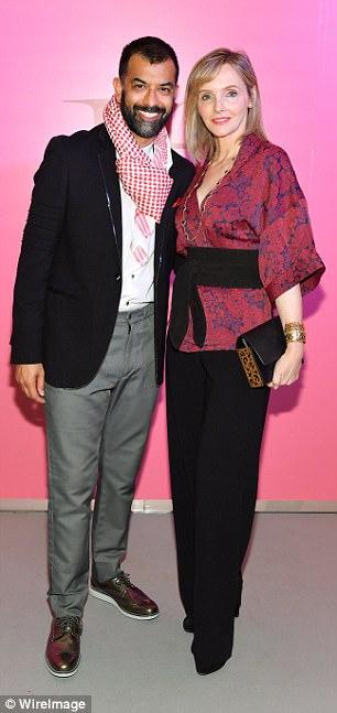 Left:Zaib Shaikh and Kirstine Stewa rocked ethnic-inspired attire