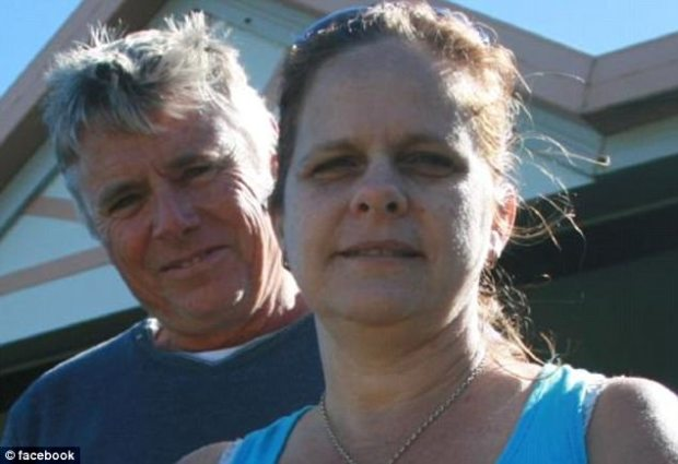 The experience is believed to have been a 50th birthday present for Mrs Pike from her husband Alistair Pike (the two pictured here) and their children, according to the Courier Mail