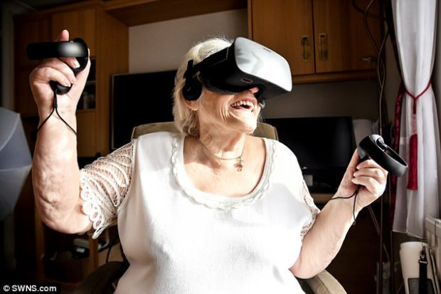 Since she bought it three months ago, Mrs Howard has used the headset to visit the pyramids in Egypt, scuba-dive with whales and even blast into space