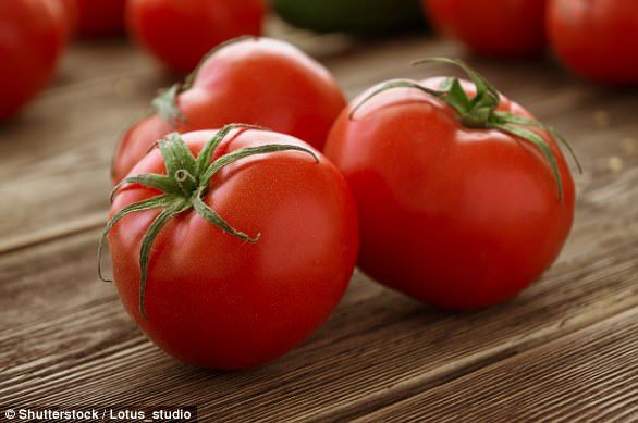 Lycopene gives tomatoes their red colour and is an excellent antioxidant, helping to prevent the skin from being damaged
