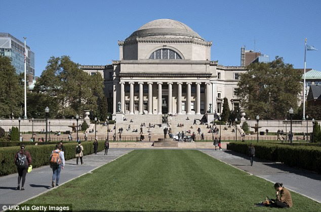 Columbia University is one of the eight Ivy League schools. It is in Morningside Heights, a neighborhood of Manhattan, New York