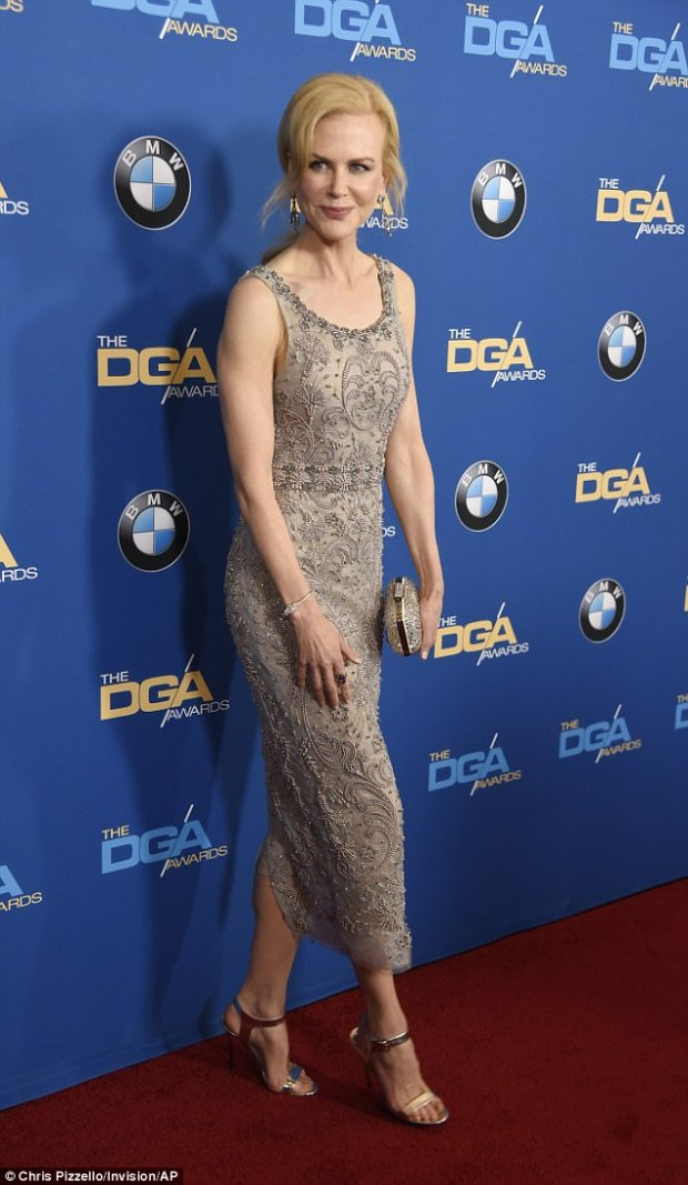 Her choice? Nicole Kidman wears a Marchesa dress at the 69th annual Directors Guild of America Awards