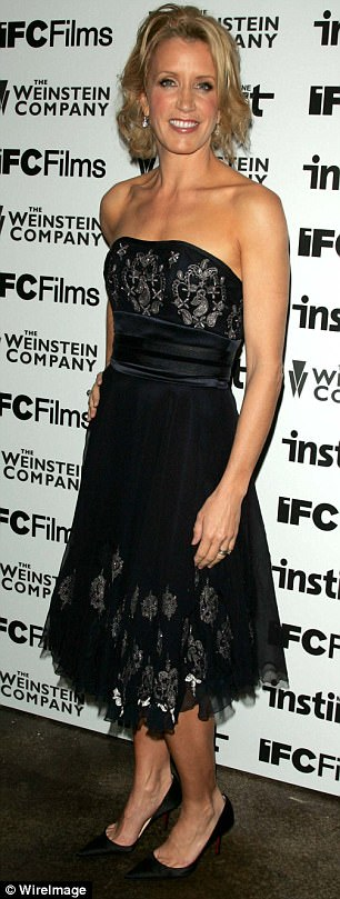 Keeping in line: The now-54-year-old obliged his demands by wearing Marchesa to numerous red carpet events, including her film's 2005 screening (pictured) and the 2006 Golden Globes