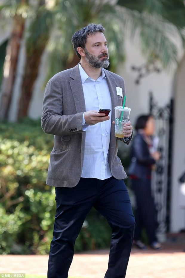 Scandal: The 45-year-old actor dressed in a blazer for the parents' meeting after apologizing for groping an actress on TRL in 2003