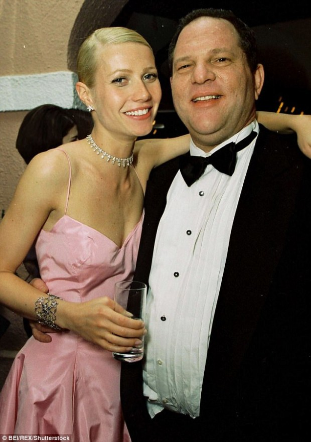 Earlier this week, Paltrow claimed in an interview with The New York Times that she was a victim of Weinstein's sexual misconduct when she was only 22. The two are seen together in 1999 at a Miramax post-Oscar party