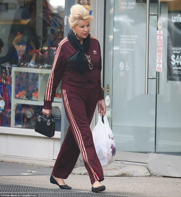 Work it: Ivana Trump appeared to be enjoying the simple life while running  errands in New York City, donning a tracksuit