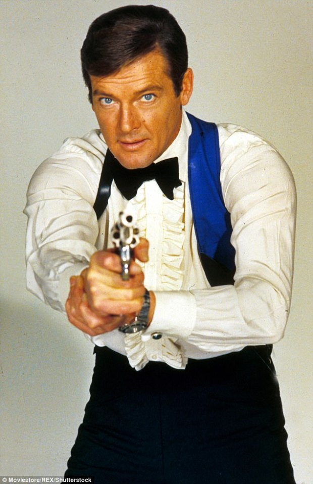 Moore (pictured as James Bond) wrote about the collapse of the marriage in his 2008 autobiography My Word Is My Bond, blaming the amount of time the couple spent apart, money worries and his wife¿s lack of faith in him