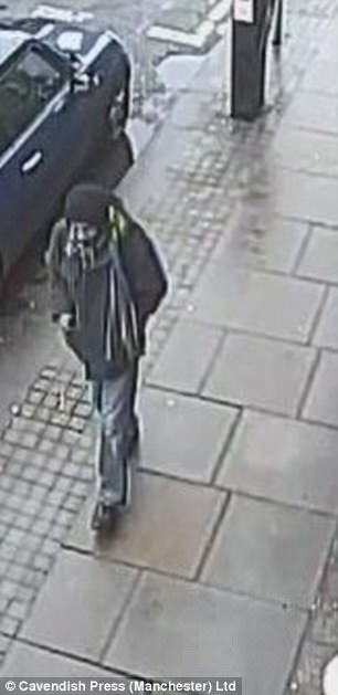 CCTV of Joginder Singh loitering around the area before he struck