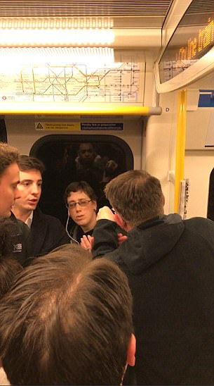 Man's furious rant at woman on London Tube | Daily Mail Online