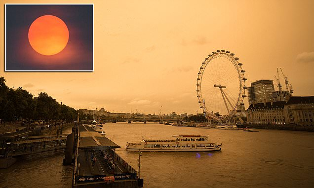 Hurricane Ophelia creates red sun in skies over England