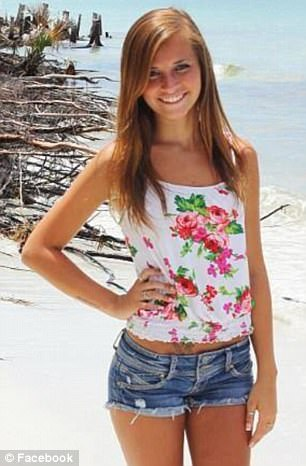 Samantha Huntley (pictured), 20, from Missouri, died of a heroin overdose last month