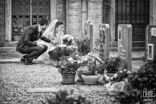 Grieving bride: The Fearless Awards honor the best wedding photography from across the globe. One of the award-winning photos from 2017 is this image byFabio Mirulla of Italy