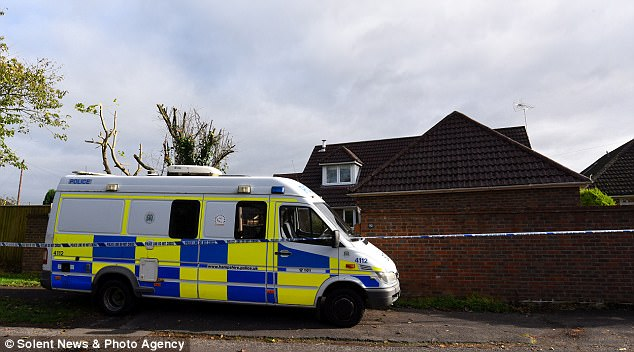 Police at the scene in Fordingbridge on the edge of Hampshire's New Forest this morning