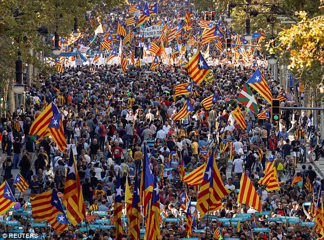 Pro-business Ciudadanos (Citizens) party president Albert Rivera says he supports the announced measures to heal divisions created by the Catalan independence movement and to provide the security companies need to remain in Catalonia