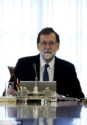 Prime Minister Mariano Rajoy's Cabinet was meeting to outline the scope and timing of the measures the government plans to take under Article 155 of the Spanish Constitution