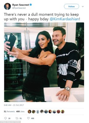 'Never a dull moment': Ryan Seacrest also shared a sweet message for the E! star